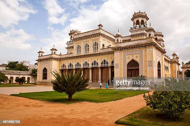 Facade of a Palace, Chowmahalla Palace, Hyderabad, Andhra Pradesh, India.
