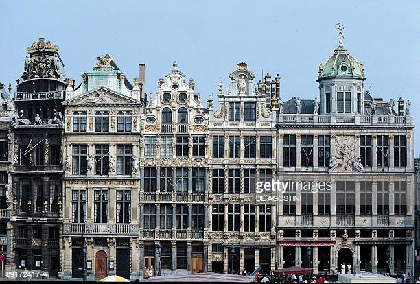 Facade of a palace, Grand Place, Brussels, Belgium