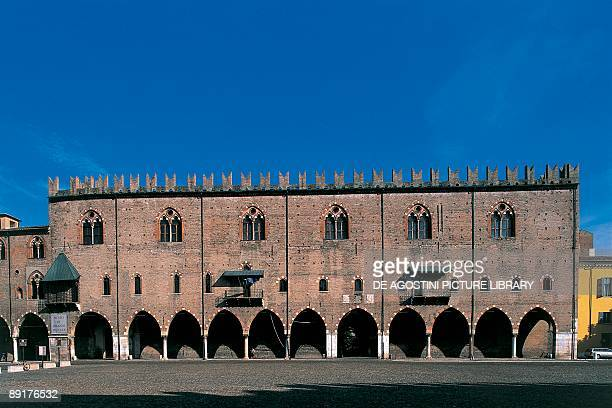 Facade of a palace, Palazzo Ducale, Sordello Square, Mantua, Lombardy, Italy