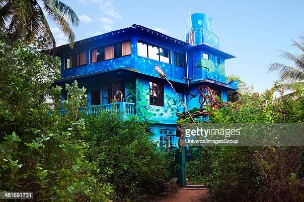Facade of a tourist resort, The Mandala, Mandrem, North Goa, Goa, India.