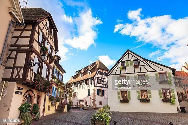 Facade of a traditional house in Eguisheim