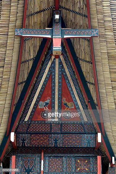 Facade of a traditional house Torajaland