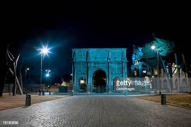 Facade of a triumphal arch, Arch Of Constantine, Rome, Italy