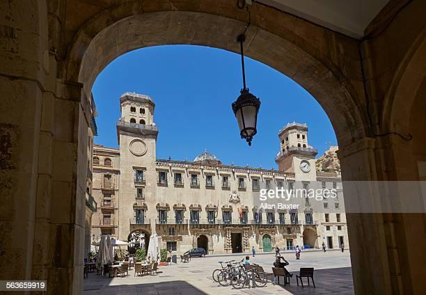 Facade of Alicante City hall in Alicante