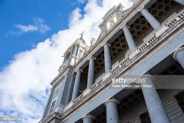 Facade of Almudena Cathedral.