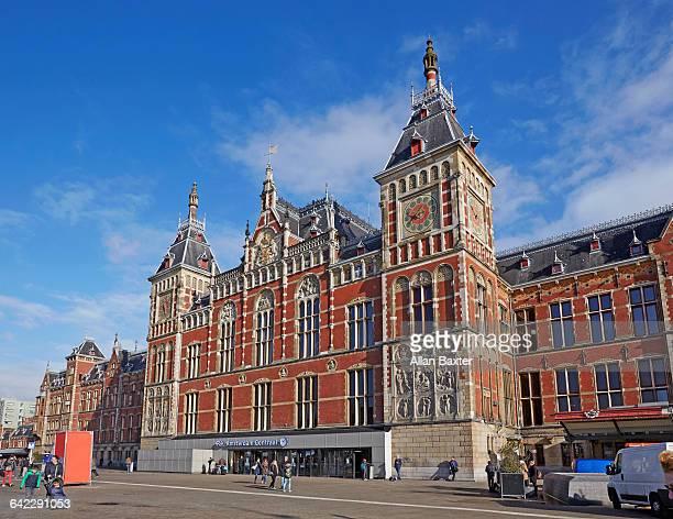 Facade of Amsterdam Centraal station