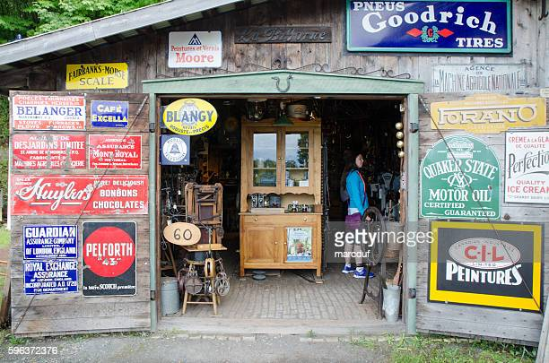 Facade of Antique Store with doors wide open