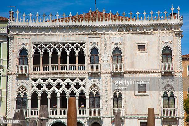 Facade of Ca' d'Oro palace in Venice