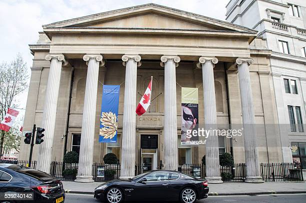Facade of Canada House in London
