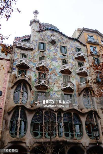 Facade of Casa Batlló, Barcelona, Spain
