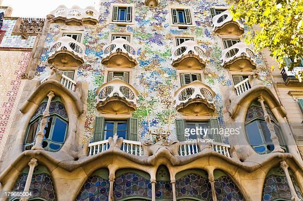 Facade of Casa Batllo, Barcelona, Catalonia, Spain