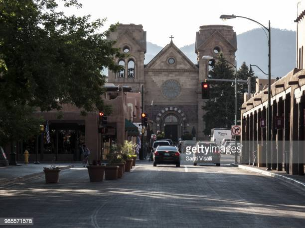 Facade of Cathedral of San Francis on June 14 in Santa Fe New Mexico