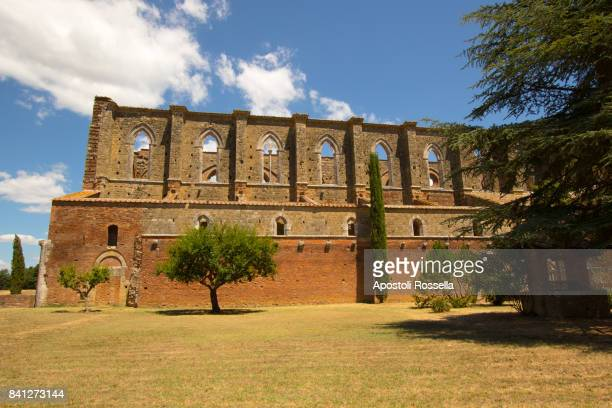 facade of Cathedral of San Galgano, Tuscany