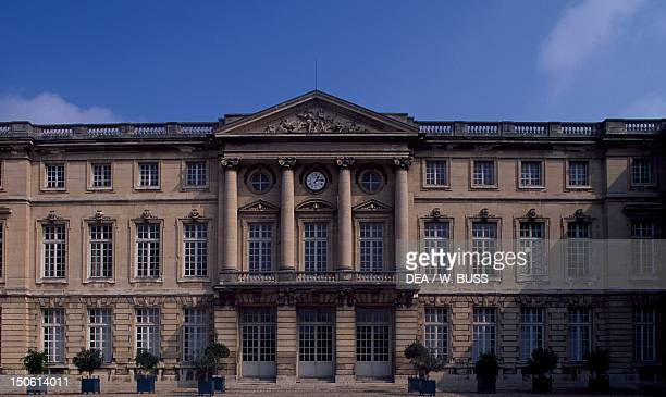 Facade of Chateau de Compiegne facing onto the honour courtyard Picardy France 18th century