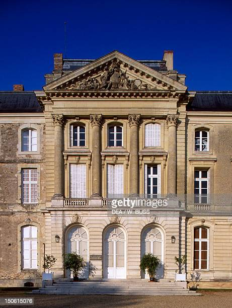 Facade of Chateau de Sable SablesurSarthe Pays de la Loire Detail France 18th century
