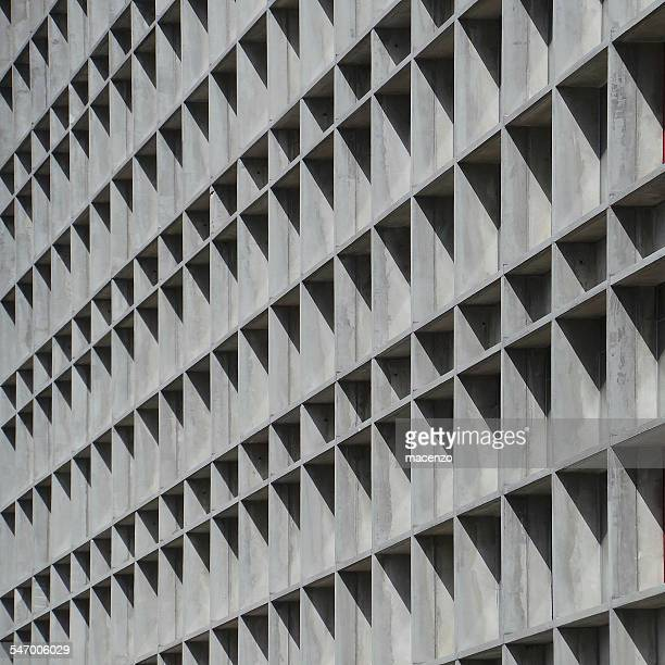 Facade of concrete building