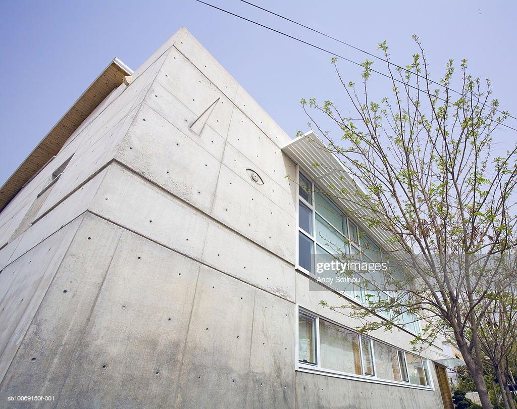 Facade of contemporary house : Stockfoto