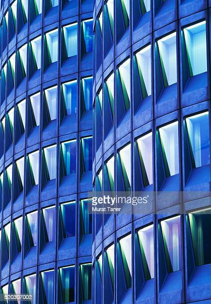 facade of contemporary office building in munich - bmw stock pictures, royalty-free photos & images