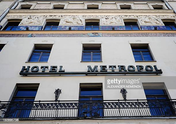 Facade of five-star hotel Hotel Metropol in central Moscow, on August 30, 2012. Moscow was set to auction off its landmark Hotel Metropol near the...