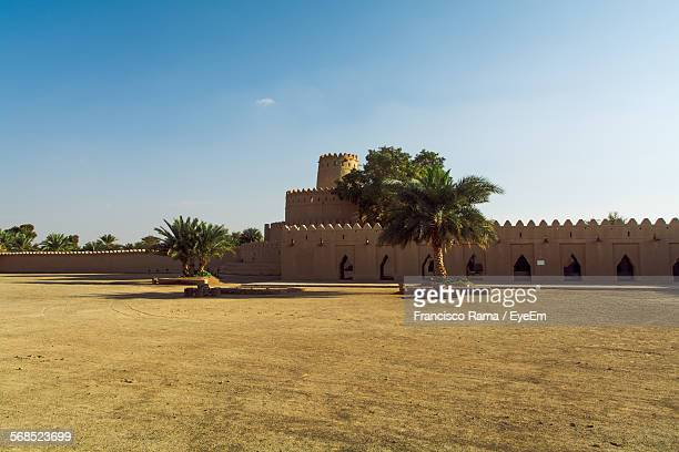 facade of fort against blue sky - fortress stock pictures, royalty-free photos & images
