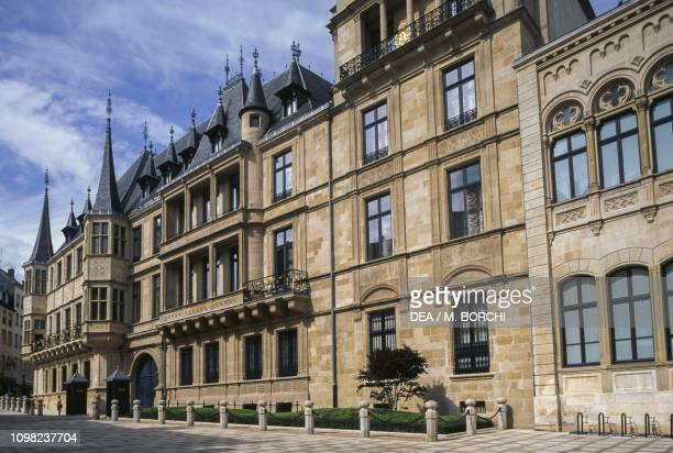 Facade of Grand Ducal Palace, 1545-1604, Luxembourg City, Luxembourg, 16th-17th century.