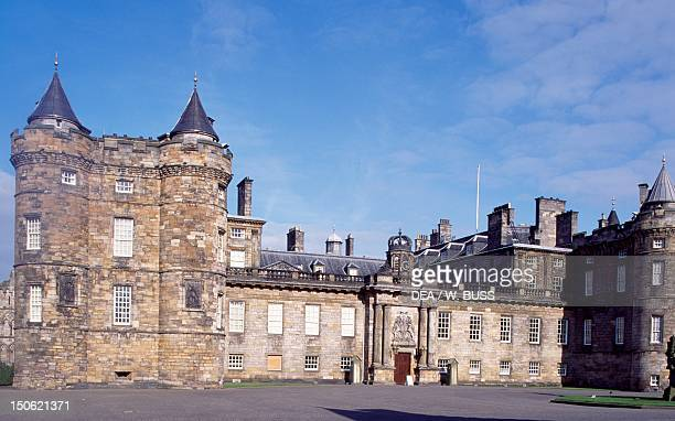 Facade of Holyroodhouse Palace, 1671-1679, by William Bruce , Edinburgh. Detail. Scotland, 17th century.