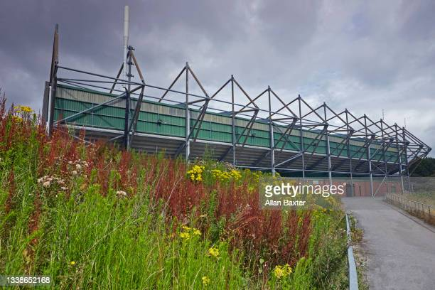 facade of home park, the ground of plymouth argyle football club - league one english football league stock pictures, royalty-free photos & images