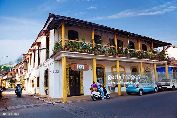 Facade of Horse Shoe restaurant Panaji North Goa Goa India