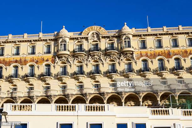 facade of hotel hermitage monte-carlo - monte carlo stock pictures, royalty-free photos & images