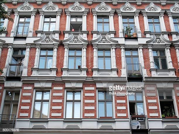 Facade of housing building in Berlin, Germany