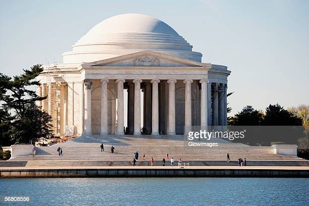 Facade of Jefferson Memorial across the Tidal Basin, Washington DC, USA