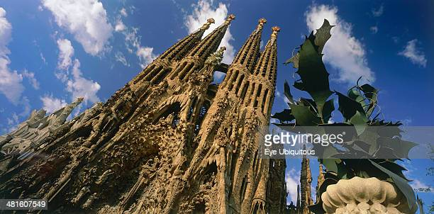 Facade of La Sagrada Familia by Gaudi with no cranes visible