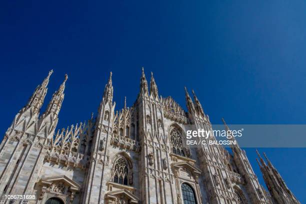 Facade of Milan cathedral Lombardy Italy Detail