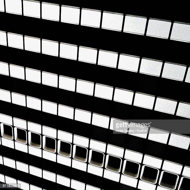 facade of modern black and white building - essen germany stock pictures, royalty-free photos & images