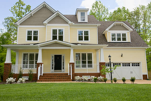 facade of new home - house stock pictures, royalty-free photos & images