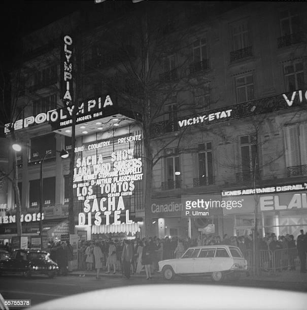 Facade of Olympia music hall Paris on 1970 PUL083302