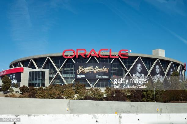 Facade of Oracle Arena the home of the Golden State Warriors basketball team Oakland California June 11 2018