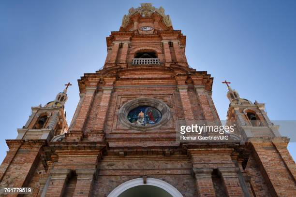 Facade of Our Lady of Guadalupe in Puerto Vallarta Mexico