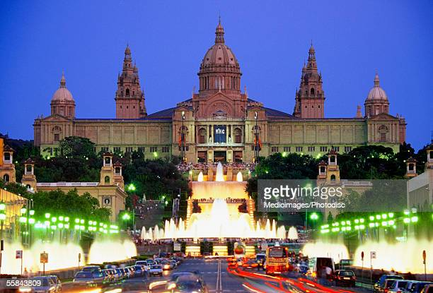 Facade of Palace of Montjuic, Barcelona, Spain