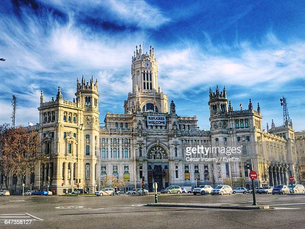 Facade Of Plaza De Cibeles Against Sky