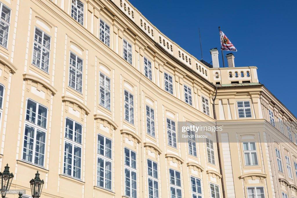 Facade of Prague Lobkowicz Palace, Old Town (Stare Mesto), Prague, Bohemia, Czech Republic, Europe : Stock Photo