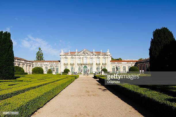 facade of queluz national palace, portugal - ogphoto stock pictures, royalty-free photos & images