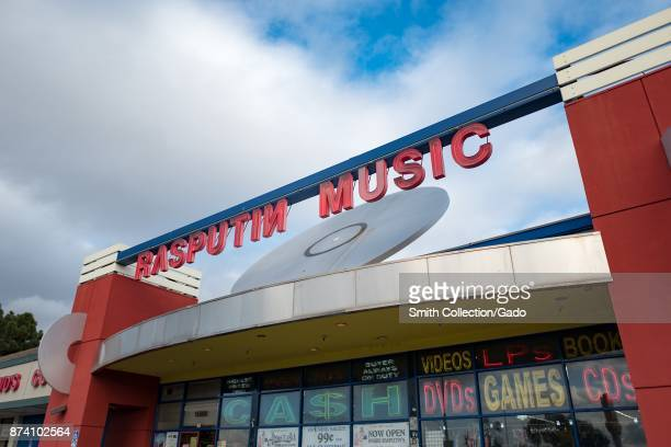 Facade of Rasputin Music the San Francisco Bay Area's largest independent music store chain in Fremont California November 10 2017