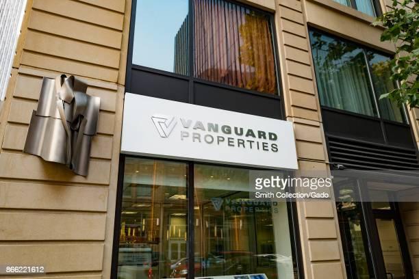 Facade of real estate company Vanguard Properties in the South of Market neighborhood of San Francisco California October 13 2017
