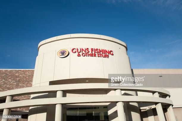 Facade of regional firearms retailer and sporting goods store Guns Fishing and Other Stuff in Dublin California July 23 2018
