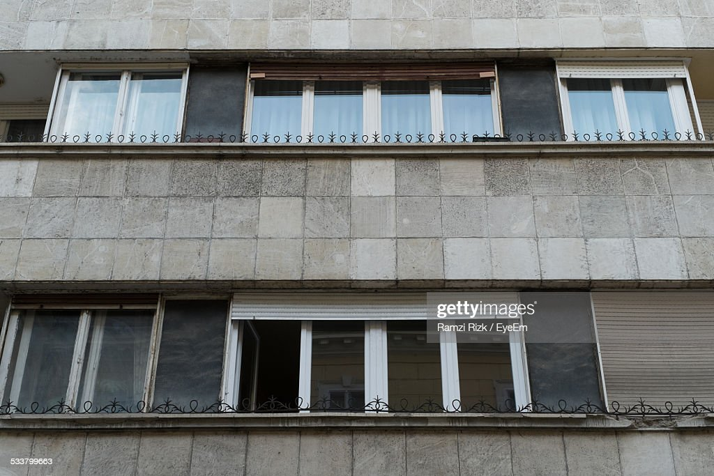 Facade Of Residential Structure : Foto stock