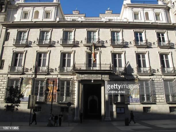 Facade of Royal Academy of Fine Arts in San Fernando former palace of D Juan de Goyeneche designed in 1715 by Jose Benito of Churriguera the facade...