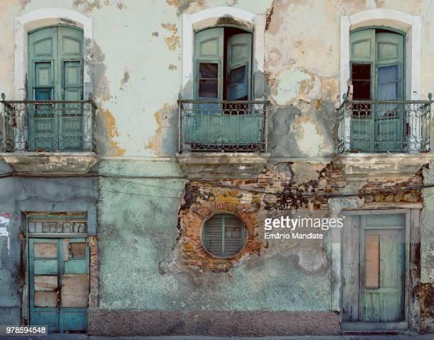Facade of ruined house, Luanda, Angola