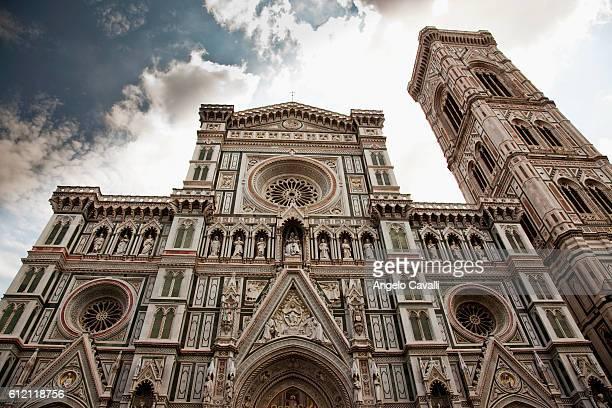 facade of santa maria del fiore - renaissance stock pictures, royalty-free photos & images