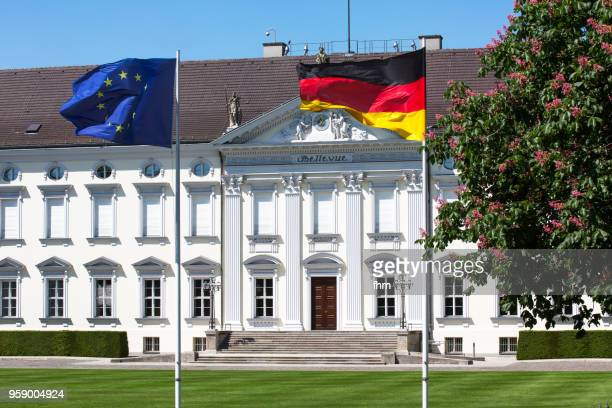 facade of schloss bellevue (bellevue castle) - berlin, germany - bellevue skyline stock pictures, royalty-free photos & images
